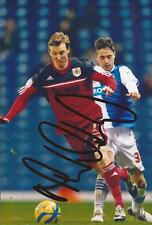 BRISTOL CITY: MARTYN WOOLFORD SIGNED 6x4 ACTION PHOTO+COA