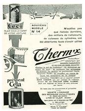 Publicité ancienneTherm'x nouveau modèle no 14 1930 issue de magazine
