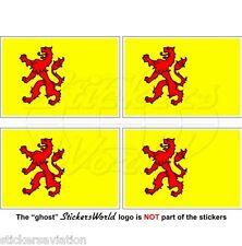 SOUTH HOLLAND Flag Netherlands Zuid-Holland Vlag Nederland Dutch 50mm Sticker x4
