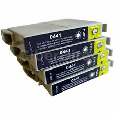 4 CiberDirect Replacements for Epson T0441 Printer Ink Cartridges - VAT Invoice