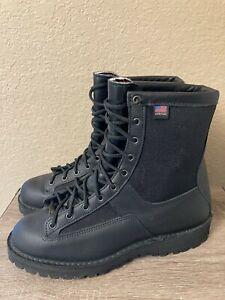 """New Danner 69210 Acadia 8"""" Black 200G Boots Made in USA Men's 11 D"""