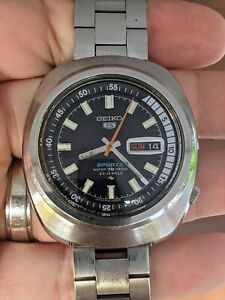 Vintage '69 Seiko 5126-6030 Sports Rally Diver 70M JDM Watch, Proof, Works