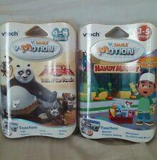 (2) Vtech VSmile VMotion Active Learning System Kung Fu Panda & Handy Manny NEW