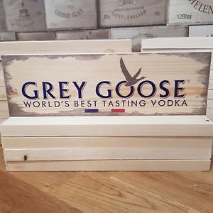 Wooden Signs - GREY GOOSE Vodka Sign Garage Pub Mancave Vintage Retro Wood Bar