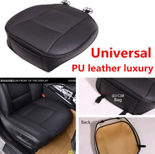 1x Black PU Leather Car Front Seat Cushion Pad Protector Mat Cover for Toyota