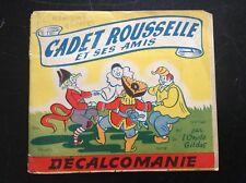 Rare Décalcomanies cadet Rousselle et ses amis BE +