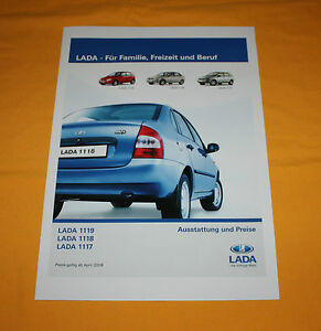 Lada 1117 1118 1119 2008 Prospekt Brochure Depliant Prospetto Catalog Folder