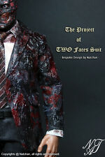 Nat Chan Custom made 1/6 Scale BD Ver Grey Suit Set For Two Face Dent Custume