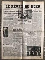 N8 La Une Du Journal Le Réveil Du Nord 10 Février 1943
