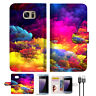 Colorful Cloud Wallet TPU Case Cover For Samsung Note 7-- A021