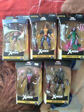 Marvel Legends Lot Of 5 figures Caliban Baf Wave Gambit Forge Weapon X