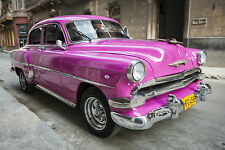 STUNNING CANVAS CLASSIC AMERICAN CAR IN CUBA #847 WALL HANGING PICTURE ART A1