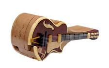 Guitar Pic Box Handmade Beachwood Intarsia Puzzle Box