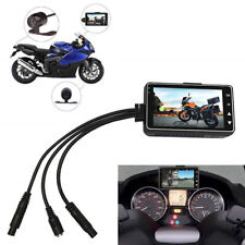 "Motorcycle Dual Recording Camera 3"" LCD Waterproof Screen Vision Latest Version"