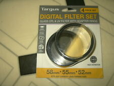 Targus 4 pics DSLR Digital camera Filter Set Cameras filters uv cpl 58mm 55