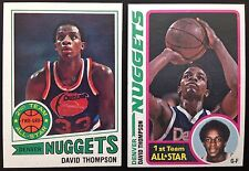 David Thompson 2-card Topps lot 1977-78 Topps #60 (NM) & 1978-79 #100 (EXMT)