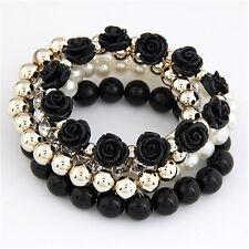 Style Beaded Bracelet Bohemia Stretch Multilayer Flower Charm Fashion Jewelry