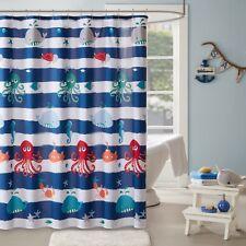 MiZone Kids Whale Ocean Fabric Shower Curtain 72x72 kids bath new