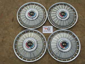 "1962 FORD GALAXIE 500 SUNLINER 14"" WHEEL COVERS, HUBCAPS, SET OF 4"