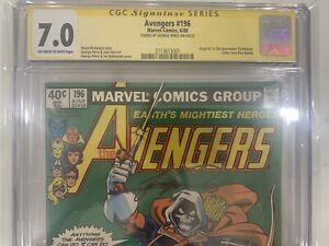 Avengers #196 CGC 7.0 Signed George Perez 1st First Taskmaster not 9.8 9.0 8.0
