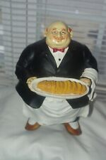 Vtg Italian Fat Waiter with Bread Tray sculpture 7 1/2 inch