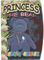 TY Beanie Babies BBOC Card - Series 4 Beanie/Buddy Left (GOLD) - PRINCESS Bear