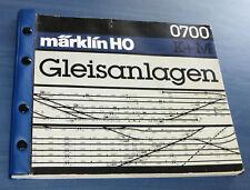 Märklin 0700 K+M Gleis Gleisanlagen Heft, Gleispläne