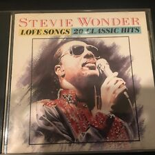 Stevie Wonder - Love Songs: 20 Classic Hits  (CD, Motown) 1985