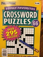 Penny Press Family Favorites Crossword Puzzles #66 NEW 295+ Puzzles New