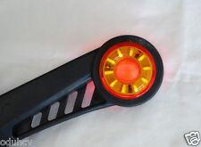 2 pcs LED Red Amber (Yellow) Rubber Body Outline Side Marker Light Truck Trailer