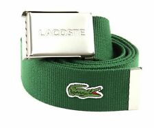 LACOSTE Casual Woven Strap W110 Gürtel Accessoire Green Grün Neu