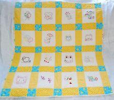 Винтажное стеганое одеяло ручной работы