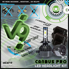 Stark 55W LED Canbus Headlight 6000K Kit Anti-Flickering / No Error Bulbs - H7