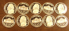 10 One 1 Gram .999 Silver Rounds Jefferson Nickel.....Free Shipping..Lot A65