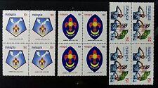 BLOCK OF 4 MALAYSIA 1974 SCOUT JAMBOREE SG 115 - 117 MNH OG