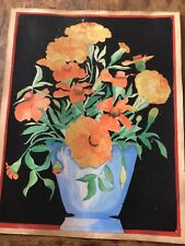 Antique Painting Of Flowers