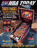 NBA Fastbreak Pinball FLYER Linked Version Original 1997 NOS Basketball Game Art