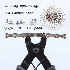 Steel Bike Chains 6/7/8 Speed Missing Chain Link Bicycle Joint Connector 2PCS