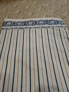Ralph Lauren Porcelain blue striped jonquil twin flat sheet excellent