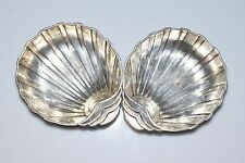 .925 Sterling Silver Seashell Dinnerware Mini Sauce Tray Bowl Dish 55.1 Grams