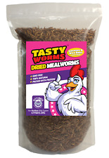 5Lbs (80oz) Tasty Worms Dried Mealworms 100% Natural - Fish Bluebirds Chickens