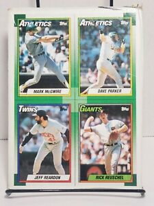 Vintage * MLB * Topps * Baseball * 1990 * Box Bottom * Mark McGwire & Others