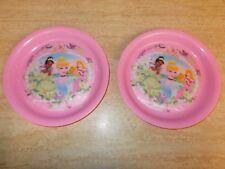"2  - vintage 8"" Melmac Zak plates,  Features 3 Disney Princess"