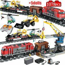 1078PCS City Track Train Station Building Blocks Legoingly Toys RC Train Figure