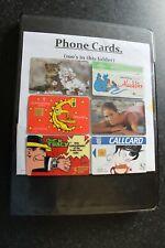 140 Phone Card Lot Mix BT Mercury Ireland Disney Pixar Japanese Animals + Folder