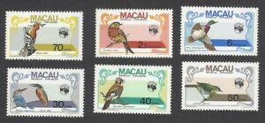 Macau 1984 AUSIPEX Birds MNH SG 592-97 £38