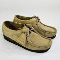 Clarks Originals Wallabee Womens Size 9 Tan Brown Crepe Sole Chukka Boot Shoes