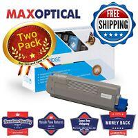 Max Optical 2Pack Okidata C6150 Compat Cyan Toner Cart