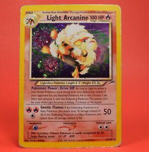 Pokemon TCG Card English Neo Destiny Light Arcanine 12/105 Holo Rare