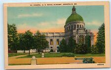 *Church Chapel US Naval Academy Canon Annapolis Maryland MD Vintage Postcard B77
